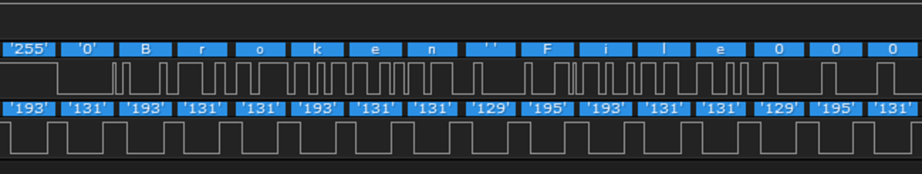 ASCII text in SPI capture